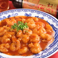 料理メニュー写真エビのケチャップ煮(ピリ辛)