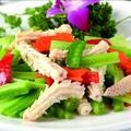 料理メニュー写真セロリとイカの炒め物