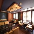 【2階個室】最大16名様(着席時)の御利用可能な個室席が御座います。テーブル席でのご用意でレイアウトの変更も可能です♪