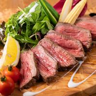 【鮮度抜群の肉と魚介を贅沢に味わう】