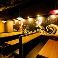【2名様~】モダンでおしゃれな空間で串焼き屋さんとは思えない落ち着いた雰囲気が魅力。