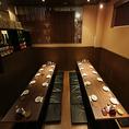 当店は24名様~最大34名様迄貸切が可能!掘り炬燵の空間は、別のお席とは離れている一体感のあるお席ですので周りを気にされることなくご宴会をお楽しみ頂けます。また最大16名様まで利用可能な半個室のテーブル席もございます。