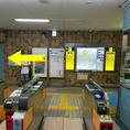 【道案内1】中崎駅改札は一か所のみ。改札を出たら1番出口(左側)に向かいます。