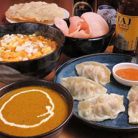 本格インド・ネパールカレー&料理とインド・ネパールのお酒が楽しめるカレー居酒屋