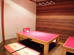 座敷の一角の4人卓です。6名様まで可能。女子会にピッタリ