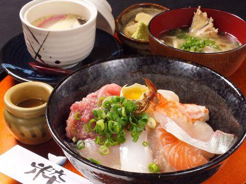特製海鮮丼定食!