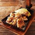 料理メニュー写真鶏もものくわ焼き にんにく塩焼き