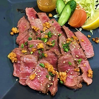 県産の和牛ステーキ
