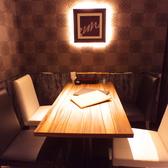 他空間と隔離された個室ルームではプライベートな時間を過ごしていただくことができます。接待や特別な記念日のご利用に最適です。※ルームチャージ料お一人様500円頂戴しております。