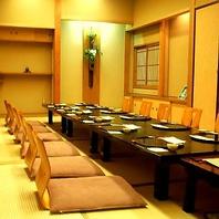 2F大型個室は最大60名様迄OKの一体感ある完全個室