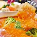 料理メニュー写真エビチリチーズのフォンデュ仕立て