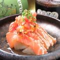 料理メニュー写真サーモンの炙りラゴットソース