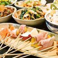 天王寺で大人気☆季節食材の創作串揚げも食べ放題!