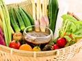 料理メニュー写真季節野菜のかご盛り