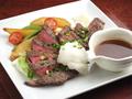 料理メニュー写真牛肉の炭火焼 和風おろしソース