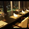 銀座に接するテラス席から美しい夜景を眺めながらお食事下さい