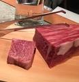 料理メニュー写真日替りメニュー例) 鹿児島黒毛和牛ヒウチ