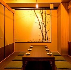 和の趣の掘りごたつ個室…博多の旬を★