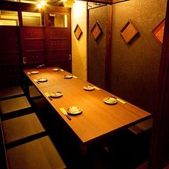 宴会向け個室席6~8名様用、人気席なので、ご予約はお早めに!