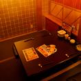 ゆっくり過ごせるお座敷個室です。デート・コンパ・子連れ・接待どんなシーンでも合います。