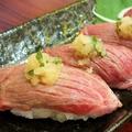料理メニュー写真【単品】炙り肉寿司 3貫