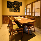落ち着いた雰囲気の2F個室。
