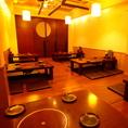 最大40名収容の大個室★貸切宴会は25様~★梅田 肉の寿司 和食 足立屋