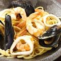料理メニュー写真魚介のリングイネ アーリオ・オーリオ