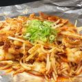 料理メニュー写真豚キムチ/若鶏のおろしポン酢/ナス味噌バター/ナスとトマトのチーズ焼き/ポークチャップ