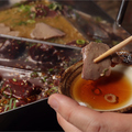料理メニュー写真新メニューの特製の旨塩ダレの『塩レバしゃぶ』