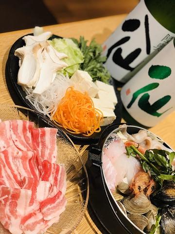 【選べるメイン&2時間飲み放題付】国産豚の日本酒しゃぶしゃぶor八戸ブイヤベース宴会に!