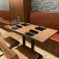 多彩なシーンでお使い頂ける4名様テーブル席!
