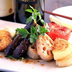 季節の焼き野菜サラダ