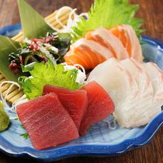 料理メニュー写真お造り3種盛り合せ【華】