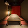 6名様まで対応の、お座敷タイプの完全個室。