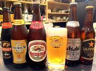 各種ビール揃えてます♪