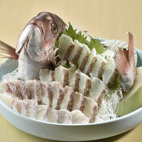 【歓送迎会特典☆】10名様以上の宴会コースご予約で『鯛の姿盛り』プレゼント!