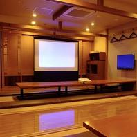 結婚式2次会や歓送迎会に便利!巨大スクリーン完備♪