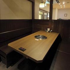 広々使える6名テーブル
