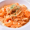 料理メニュー写真【人気】 エビと帆立のトマトクリームパスタ