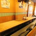 ≪8名様用テーブル席≫仕事帰りのサク飲みやデートのご利用、会社宴会など、シーンに合わせて幅広くご利用くださいませ。大人数の宴会のご予約はお早めに。