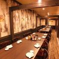30名までのテーブル個室2列で最大50名様までご宴会が可能です。
