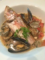 料理メニュー写真イサキとムール貝とあさりのアクアパッツァ(和歌山)