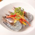 料理メニュー写真天使の海老のカルパッチョ