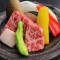 料理メニュー写真厳選和牛の陶板焼き