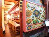 美味しそうな韓国料理写真が壁面満載です♪