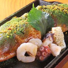 三津浜焼き 海鮮MIX(海老・イカ・大葉・ねぎのせ)