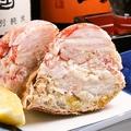 料理メニュー写真根室産毛蟹の甲羅詰め