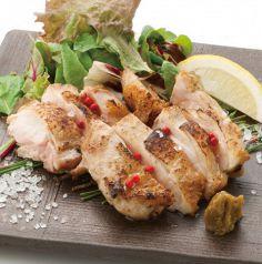 料理メニュー写真朝挽き鶏の岩塩焼き