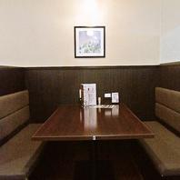 ついつい長居したくなる心地よい空間でお食事